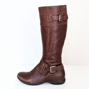 Ecco Hancock Leather Zip Up Boots